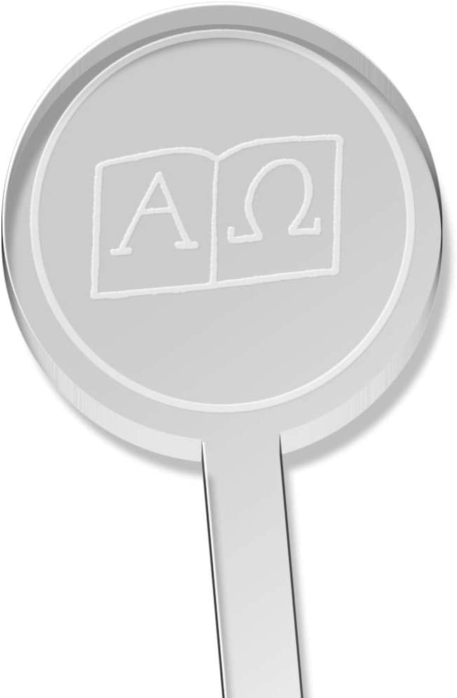10 x Símbolos Alfa y Omega Corto Beber Agitador (DS00025644 ...