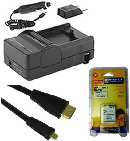 Nikon Coolpix P340 Digital Camera Accessory Kit includes HDMI6FMC AV /& HDMI Cable SDM-197 Charger SDENEL12 Battery
