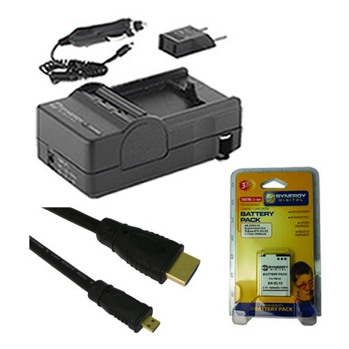 Nikon Coolpix S9700 Digital Camera Accessory Kit includes: SDENEL12 Battery, SDM-197 Charger, HDMI6FMC AV & HDMI Cable