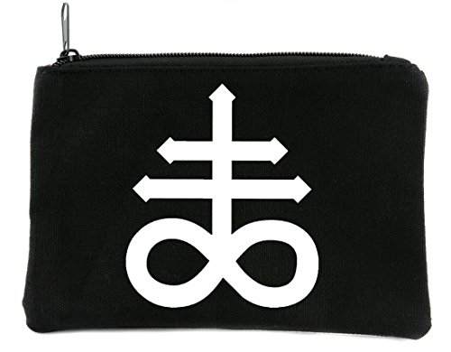 Leviathan Cross Symbol Cosmetic Makeup Bag Alternative Occult Accessories Black Sulfur -