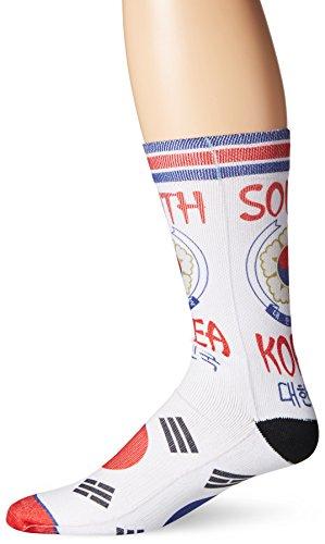Odd Sox Men's South Korea, Multi, Sock Size:10-13/Shoe Size: 6-12