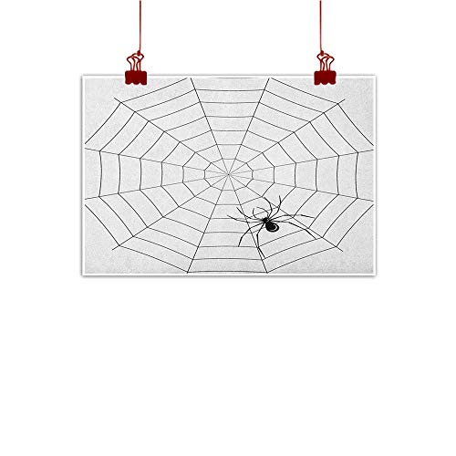 (Anyangeight Home Wall Decorations Art Decor Spider Web,Toxic Poisonous Insect Thread Crawly Malicious Bug Halloween Character Design, Black White 36