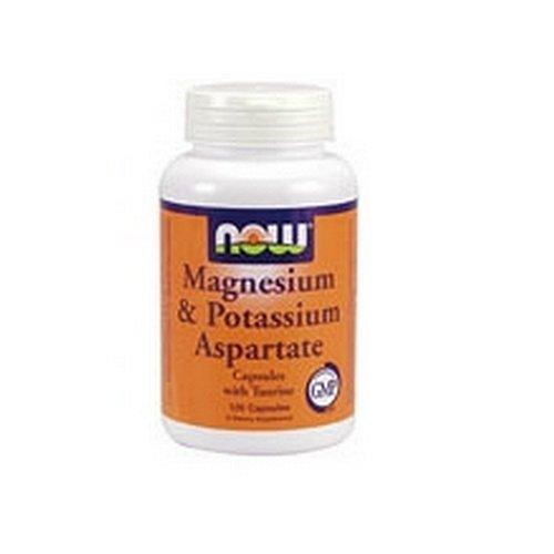 NOW Foods Magnesium Aspartate de potassium et W / Taurine, 120 Capsules (Pack de 2)