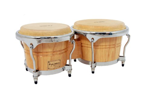 Tycoon Percussion 7 Inch & 8 1/2 Inch Concerto Series Bongos - Natural Finish ()