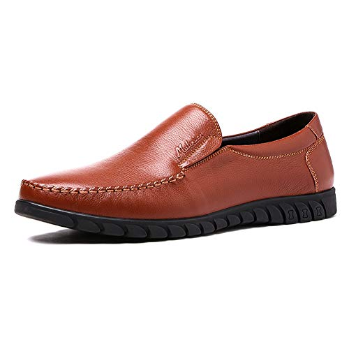 6 Uomo Da Casual Rotondi Uomo Uomo Da In Da Brown On Pelle Brown Per US Mocassini UK Scarpe 7 dimensioni Comode Colore LXLA Uomo Slip Xq7wxBfBav