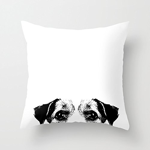 CqxinFuxi Throw Pillow Covers Jack Russell Terrier Cushion Covers with Square Pillowcases Soft Microfiber For Sofa Set