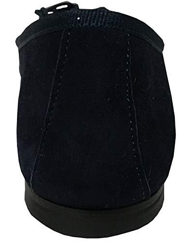 Modèle Valeria Ballerine 1 Class Made Doublé Upper Cm In Femme Talon Cuir Bleu Italy 100 Coton Tissu n4IRXq
