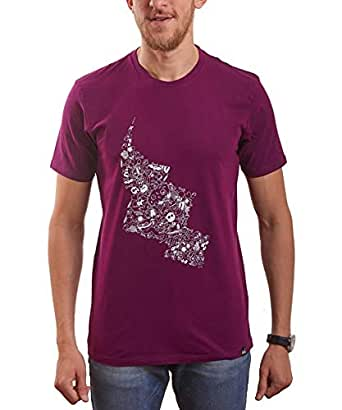 Nas Trends Purple Cotton Round Neck T-Shirt For Men