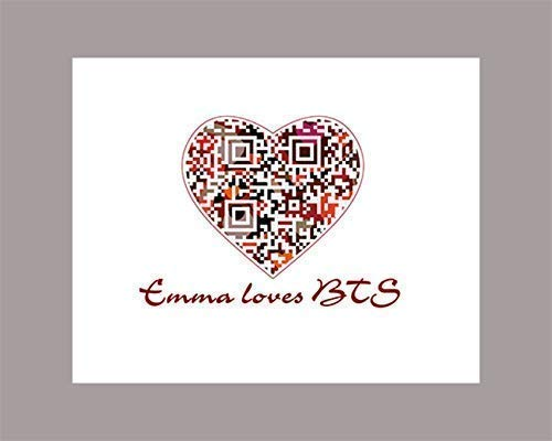 Personalized Gifts for Teenagers, BTS Magic Shop QR Code Audio Heart Art,  Tech Ooak Valentine's Day, Birthday Gift For Girl Boys, Graduation Gifts  For