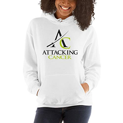 Attacking Cancer Hooded Sweatshirt (Lymphoma Cancer) White