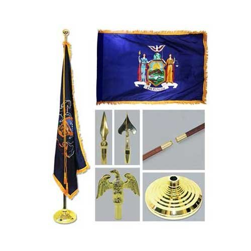 New York 3ft x 5ft Flag Flagpole Base and - York Flag New Store