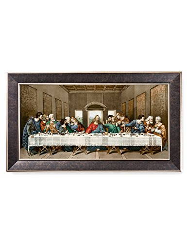 DecorArts -The Last Supper, Leonardo da Vinci Classic Art Reproductions. Giclee Print& Silver Museum Quality Framed Art for Wall Decor. 24x12