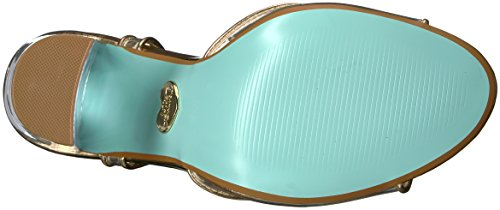Blu By Betsey Johnson Womens Sb-elana Vestito Sandalo Oro / Metallico