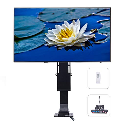 "Pinty Motorized TV Mount Lift with Remote Control for Large Screen 32"" ~ 72"", Height Adjustable up to 72"