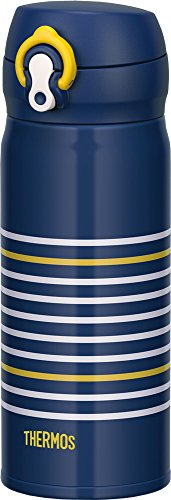 Thermos vacuum insulation cellular phone mug one-touch open type 0.4L navy yellow JNL-402 NV-Y