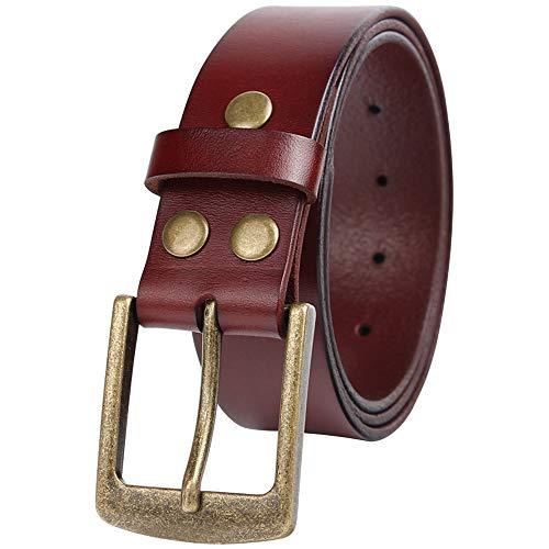 NPET Mens Full-Grain Leather Dress Belt Genuine Leather Belt 1.5 Inch (42 For 40