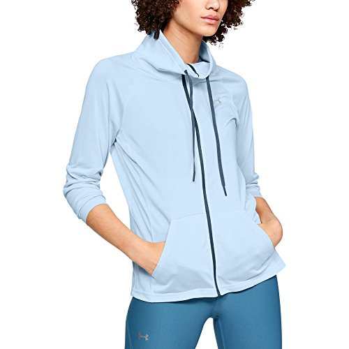 Under Armour Women's Tech Full Zip Twist, Halogen Blue (441)/Metallic Silver, XX-Large
