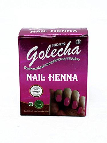 Buy Golecha Nail Henna Pink Color Tattoo Body Art Mehandi Online