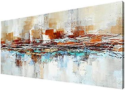 FajerminArt Moderna Cuadro En Lienzo,Impresiones De Póster Arte De La Lona Arte De La Pared Colorida Abstractas para Sala Decorativa Cuadros Pintura(Sin Marco) 60x180cm