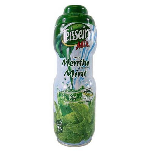 Mint Teisseire Concentrated Mint Syrup for drinks, sodas, and flavoring teas, 20.3 fl oz, Mint3Pack