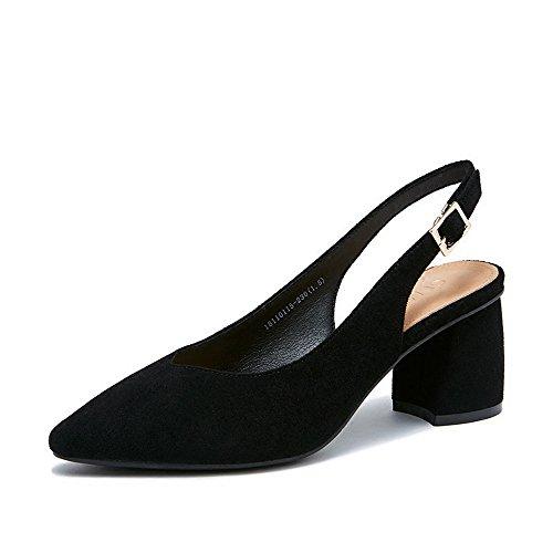 Été Femme Hauts Baotou Printemps À Sandales Avec Les Épais Noir Mode Talons Xzgc Chaussures qEaSRw
