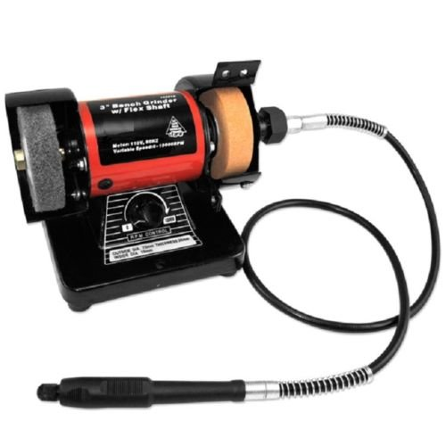 GHP Home/Rotary Accessory Electric Powered Mini Bench Grinder w Die Flex Shaft by Globe House Products