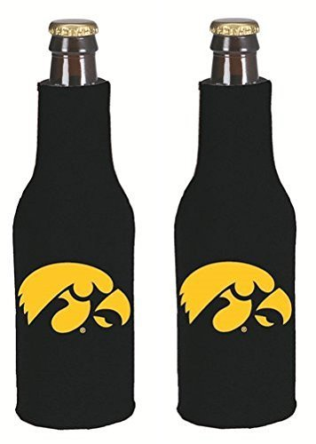 [NCAA College 2014 Team Logo Color Bottle Suit Holder Holder Koozie Cooler 2-Pack (Iowa Hawkeyes)] (Iowa Hawkeyes Tailgate Cooler)
