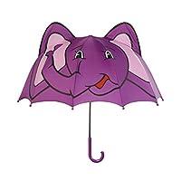 Kidorable Purple Elephant Umbrella for Girls w/Fun Pop-Up Elephant Ears