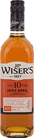 J.P. Wiser's Barril Triple 10 Años de Edad Canadian Whisky - 700 ml