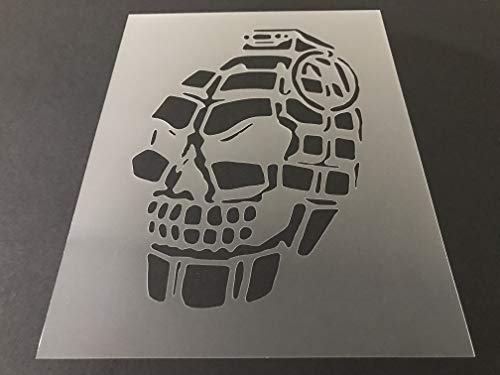 Grenade 5 Stencil Reusable 10 mil Thick 8in x 105in sheet