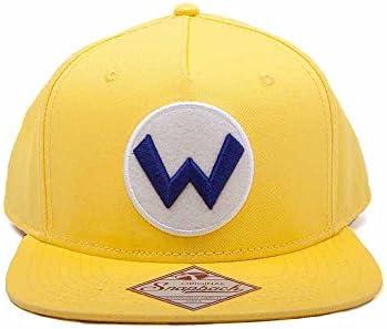 e9aa67ca1 Amazon.com: Super Mario SB092401NTN Nintendo Wario Logo Snapback Cap ...