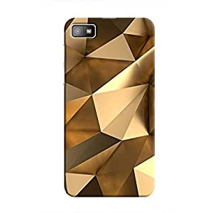 Cover It Up - Gold Angles BlackBerry Z10 Hard Case