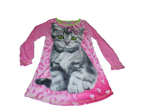 742bb8809d Big Girls Puppy Dog Kitty Cat Sleep Gown Nightgown Sleepwear Pajamas