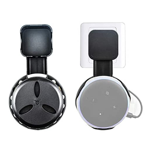 Flycoo Wall Mount for Echo Dot 3 Integrated Cable Organizer Hanger Holder for Home Voice Assistants