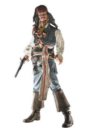 Neka (National Entertainment Collectibles Association) Pirates Of The Caribbean 2 Dead Man's Chest - 18 Inch Talking Action Figure: Jack Sparrow (Cannibal Eyes) (Cannibal Jack Caribbean)