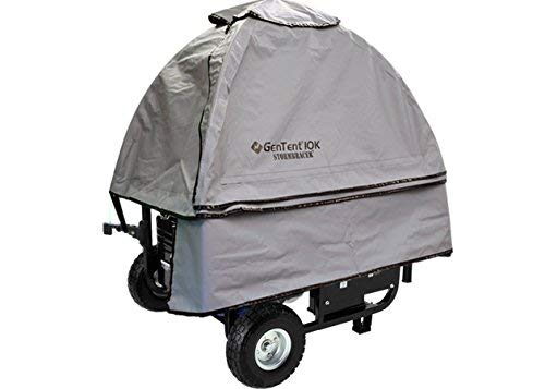 GenTent 10k Generator Tent Running Cover - Universal Kit (Standard, GreySkies) - Compatible with 3000w-10000w Portable Generators by GenTent Safety Canopies (Image #1)