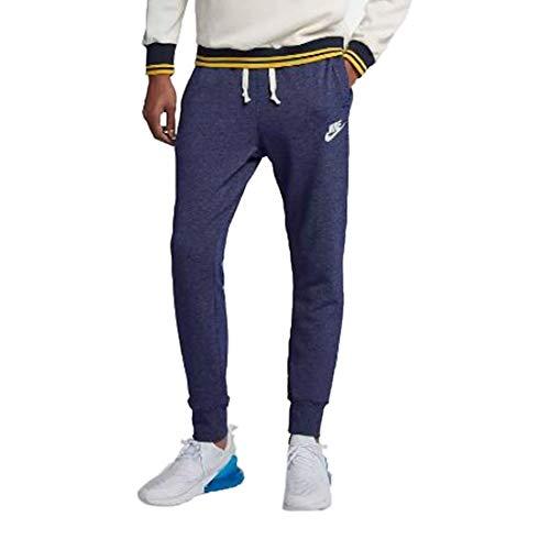 NIKE Mens Heritage Jogger Pants Blue Void Heather/Sail 928441-478 Size 2X-Large ()