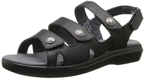 Propét Women's Bahama Slide Sandal - Black Grain - 6 4E US