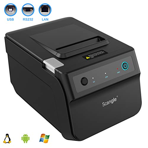 Serial Pos Printer - Scangle SGT-88IV Desktop USB Direct Thermal POS Receipt Printer - With USB / Serial / Ethernet Ports - Work on Windows XP//7/8/8.1/10/Linux/android,