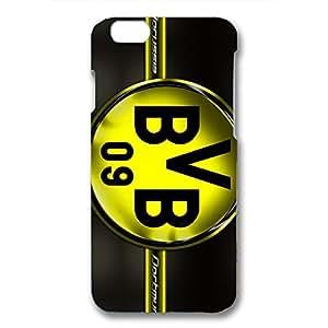 Borussia Dortmund Logo Phone Case for Iphone 6 3D Hard Black Plastic Cover