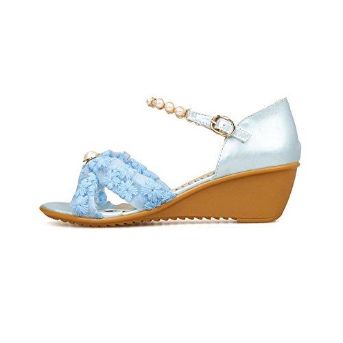 Adee , Sandales pour femme - Bleu - bleu, 43
