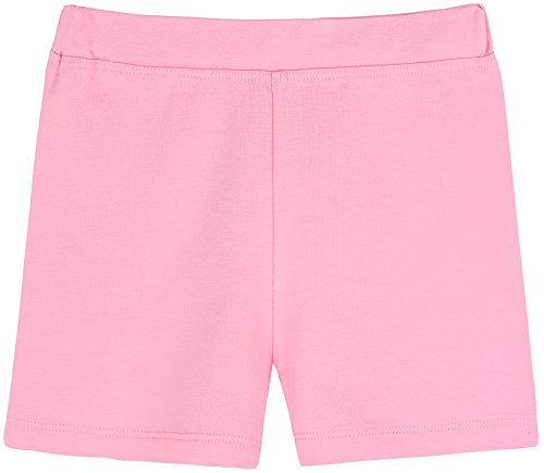- Lovetti Girls' Basic Solid Soft Dance Short for Gymnastics or Under Skirts 4T Pink