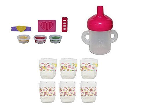 Hasbro Baby Alive Bottle/Sippy Cup, Diapers and Pizza Snack Pack Refill Pack