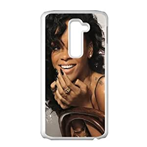 LG G2 Cell Phone Case White Rihanna Laughing FXS_764699