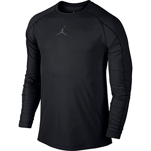 Nike Mens Jordan All Season Fitted Long Sleeve Training Shirt Black/Cool Grey 642406-010 Size X-Large