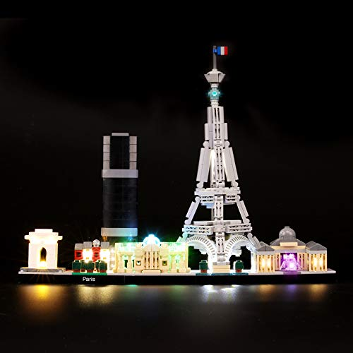 BRIKSMAX Led Lighting Kit for Architecture Paris Skyline Collection - Compatible with Lego 21044 Building Blocks Model- Not Include The Lego Set