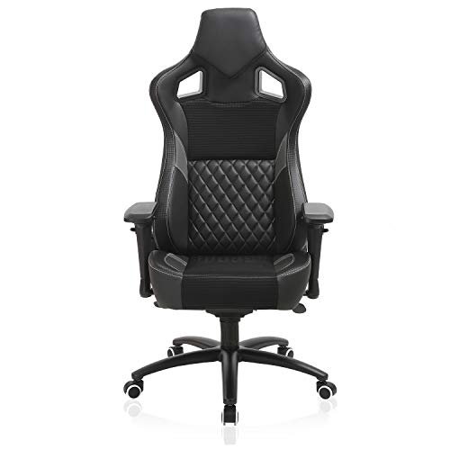 Esports Gaming Memory Foam Chair-Larger Size Racing Style Ergonomic Reclining Swivel High Back Computer Chair, 4D Armrest Tilt Lock Big and Tall 350lb (Swivel Plaid Chair)