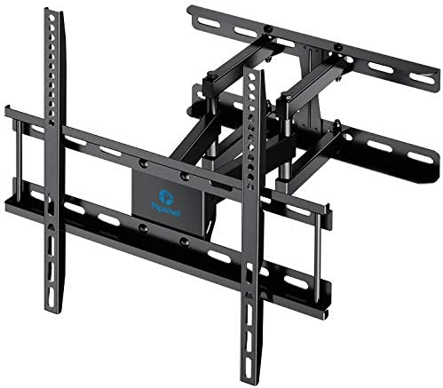 TV Wall Mount Dual Articulating Arms, Full Motion Swivel Extension Tilt TV Mount, Fits for Most 26 -55 Flat Curved TVs with Max VESA 400x400mm, Supports up to 77lbs by Pipishell