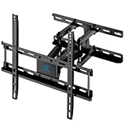 """#LightningDeal TV Wall Mount Dual Articulating Arms, Full Motion Swivel Extension Tilt TV Mount, Fits for Most 26""""-55"""" Flat Curved TVs with Max VESA 400x400mm, Supports up to 77lbs by Pipishell"""
