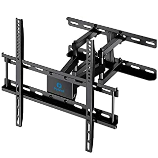 "TV Wall Mount Dual Articulating Arms, Full Motion Swivel Extension Tilt TV Mount, Fits for Most 26""-55"" Flat Curved TVs with Max VESA 400x400mm, Supports up to 77lbs by Pipishell"